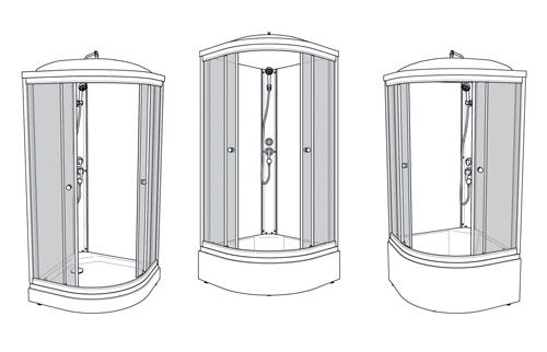 Инструкция по сборке, установке и обслуживанию душевых кабин Тритон Стандарт/Ультра